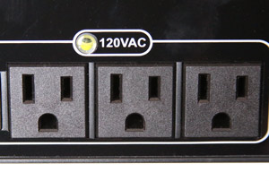Three 120-volt AC outlets